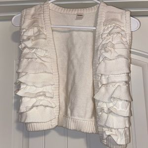 Kids XL white ruffle vest!